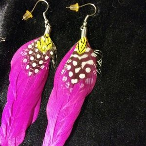 Jewelry - Feather Earrings/Bundle w/ 2 more $4 items to save